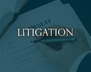 litigation sign