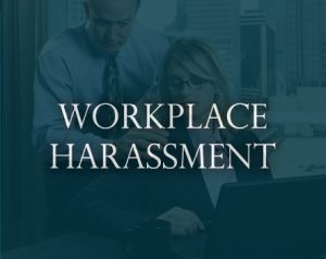 workplace harassment sign