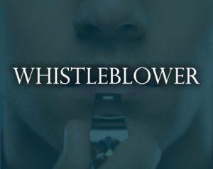 whistleblower sign
